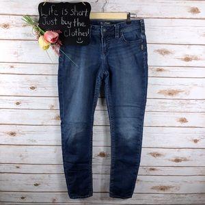 Silver Tuesday Joga dark wash skinny jeans